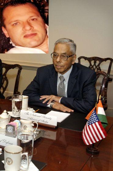 Former NSA MK Narayanan (Inset) Headley
