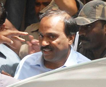 Janardhan Reddy produced at the CBI court in Hyderabad after being arrested on Monday