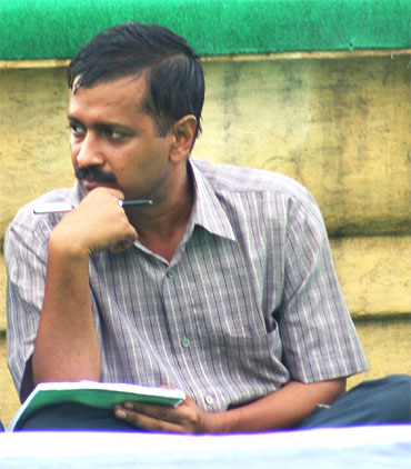 Team Anna member Arvind Kejriwal