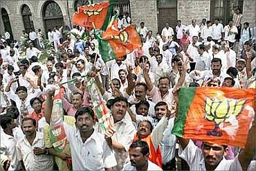 BJP supporters in Karnataka