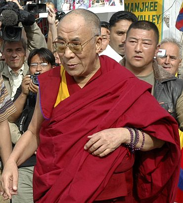 The Dalai Lama arrives in Dharamsala