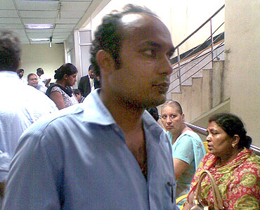 Shishir speaking to rediff.com at the hospital