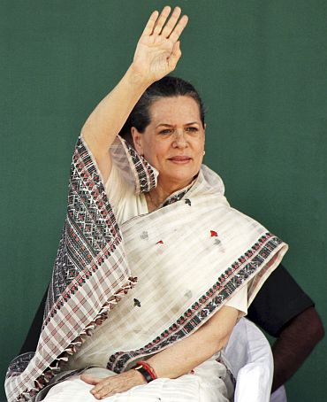 Congress president returned early today and she is fine, party general secretary Janardhan Dwivedi said.
