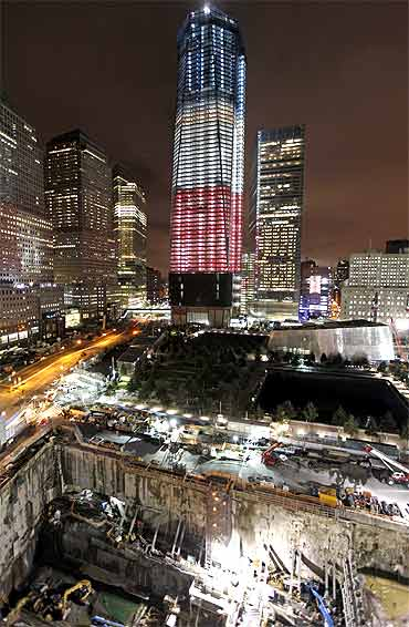 A view of the World Trade Centre construction site in New York