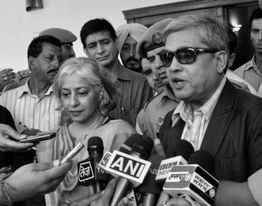 Jammu and Kashmir interlocutors Radha Kumar and Dileep Padgaonkar