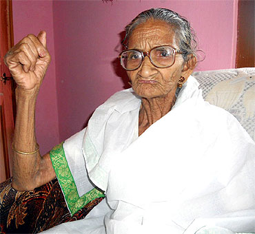 Miliki Baruah, Paresh Baruah's mother, at her home in Chokoli Bhoria