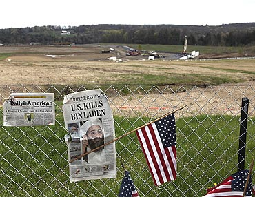 A temporary memorial at the United Airlines Flight 93 crash site in Shanksville, Pennsylvania