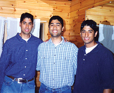 From left, brothers Jay Shastri, Umang Shastri and Neil Shastri