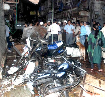 Zaveri Bazar, one of the three sites where bombs exploded