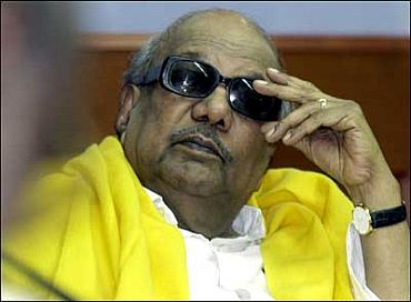 DMK chief and former Tamil Nadu CM M Karunanidhi