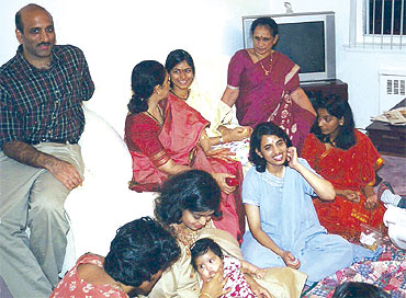 Swarna with her family