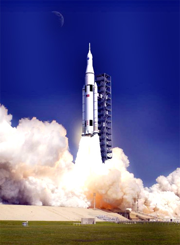 Artist concept of SLS launching