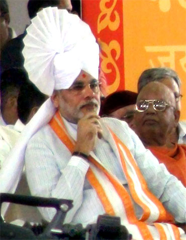 Gujarat Chief Minister Narendra Modi