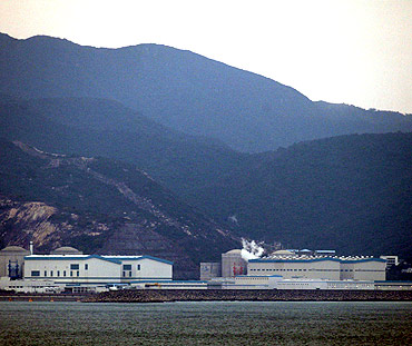 A nuclear power station in China's southern city of Huizhou in Guangdong province