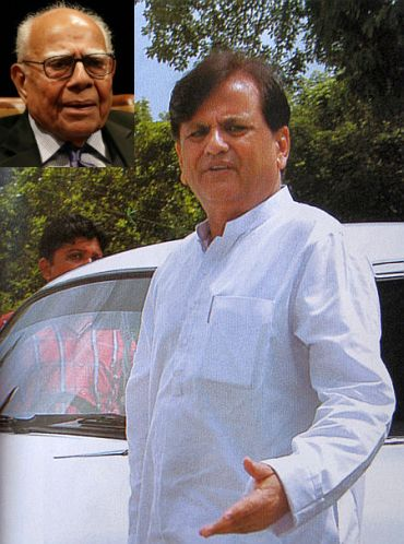 File photo of Ahmed Patel. (Inset) Ram Jethmalani