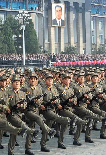 Members of the North Korean Army
