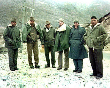 Dr Prasad (third from right) at Sela Pass