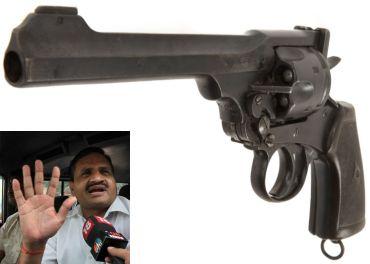 Webley revolver. (Inset) Ashok Argal