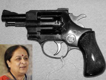 RS revolver. (Inset) Jayanthi Natarajan