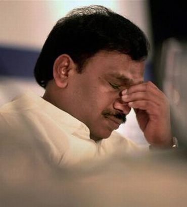 Jailed former telecom minister A Raja