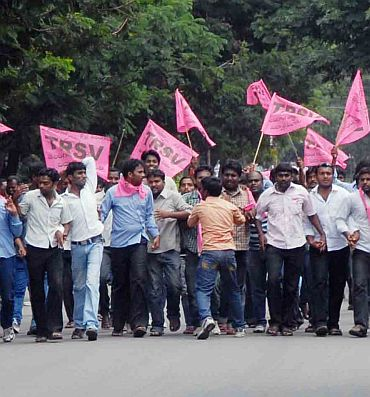 A TRS-sponsored protest