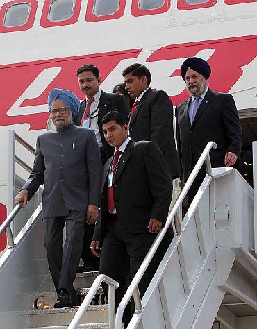 PM Singh arrives at JFK international airport at New York