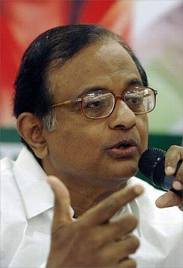 Home Minister P Chidambaram