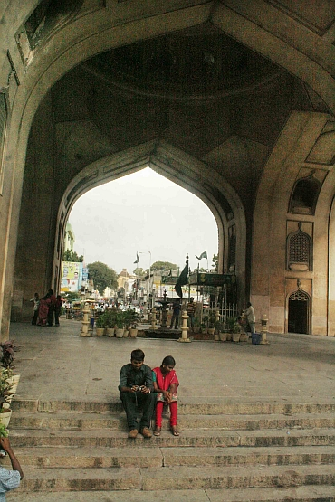 The normally busy Charminar wore a deserted look over the weekend