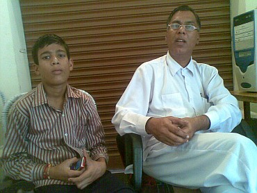 Bal Mukund with his younger son