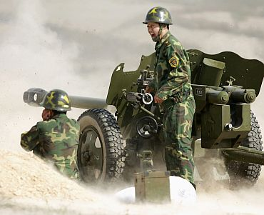 A Chinese military drill in Hefei, Anhui province