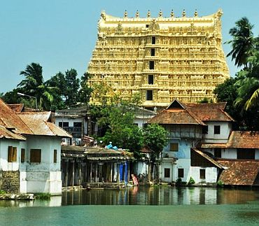 Picture of Sree Padmanabhaswamy temple tower
