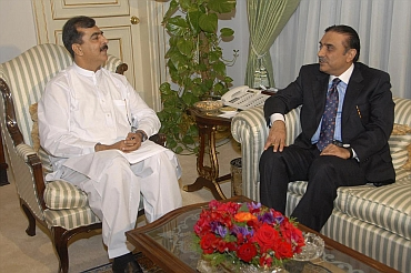 Prime Minister Yousuf Raza Gilani and President Asif Ali Zardari met on Wednesday night