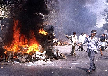 A file photo of the post-Godhra riots in Ahmedabad