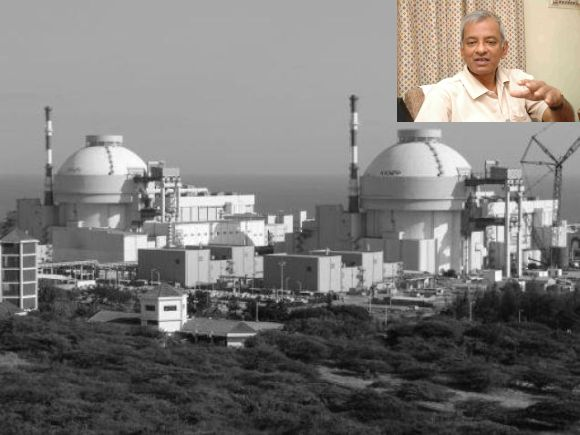 The Koodankulam nuclear power plant. (Inset) Dr Suresh Moses Lee