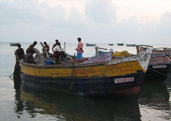 The Rameswaram fishing jetty