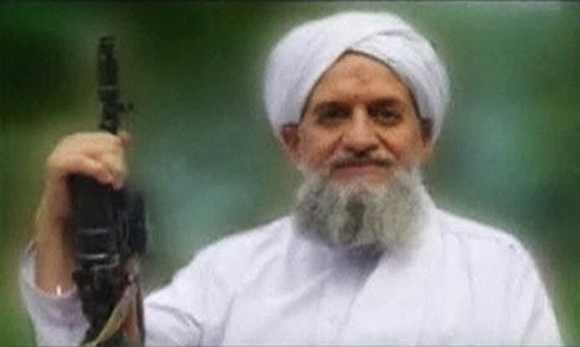 A photo of Al Qaeda's Ayman al-Zawahiri is seen in this still image taken from a video released on September 12, 2011
