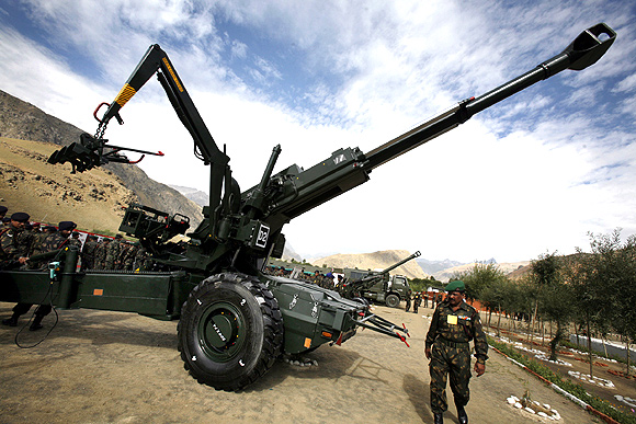 The 155 mm Bofors artillery gun in Drass, Kashmir