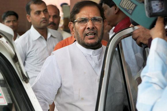 The Janata Dal-United's Sharad Yadav