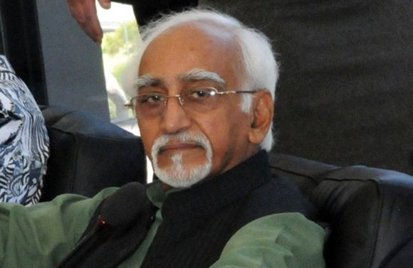 Incumbent VP and UPA candidate Hamid Ansari