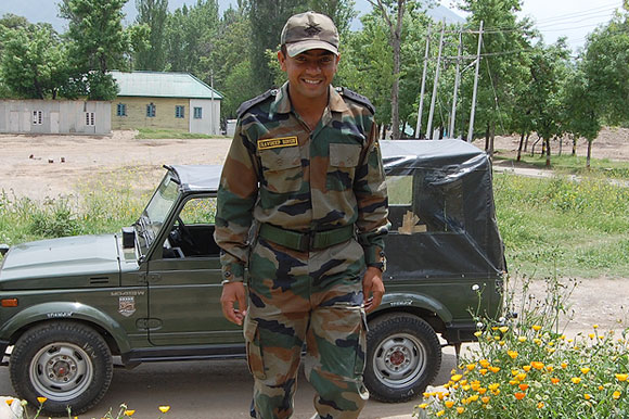 Lieutenant Navdeep Singh, 26, died battling terrorists in a heroic battle at the Line of Control. He was awarded the Ashok Chakra, the nation's highest gallantry award in peace time this Republic Day