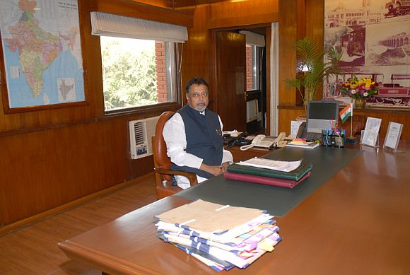 Railway Minister Mukul Roy