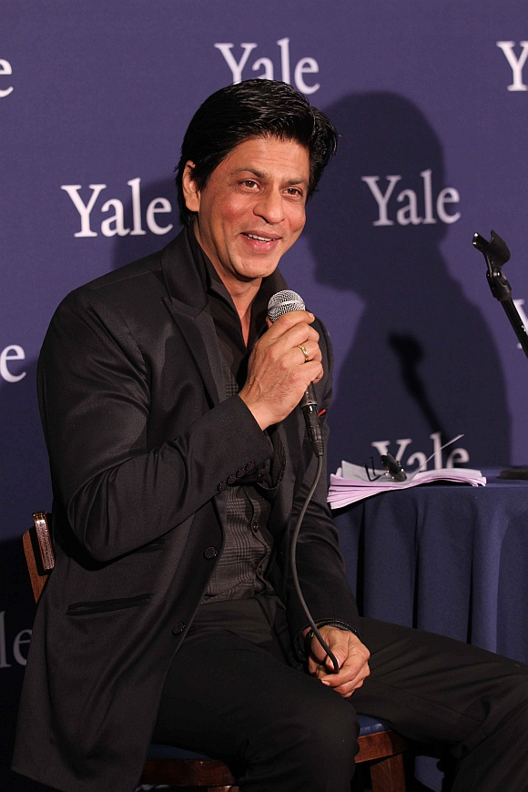 Shah Rukh Khan delivers a lecture at Yale University