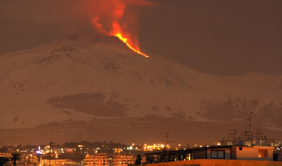 PIX: Mount Etna erupts yet again, puts on a fiery show