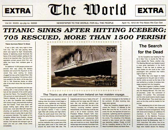 Images: Limited edition Titanic stamps unveiled