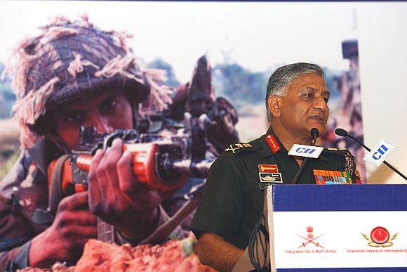 Army Chief General VK Singh addressing a gathering