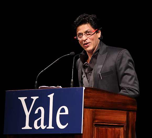 Khan delivers at lecture at Yale University