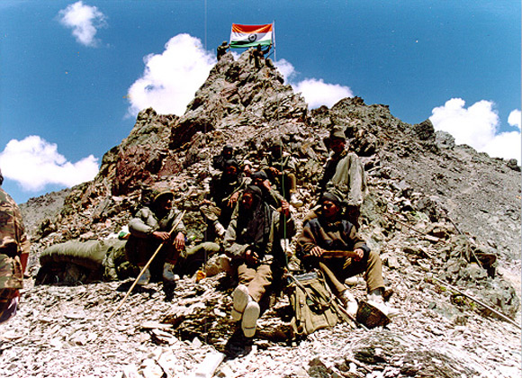 A scene from the Kargil war, 1999