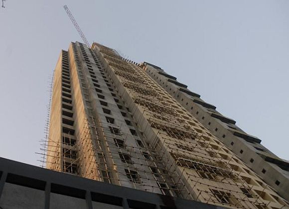 The Adarsh construction site at Colaba, Mumbai