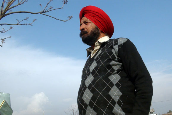 PVC Bana Singh outside his modest village home in Kadyal