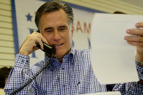Romney ahead of Obama in poll